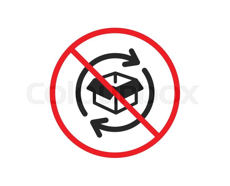No or Stop. Exchange of goods icon. ... | Stock vector | Colourbox