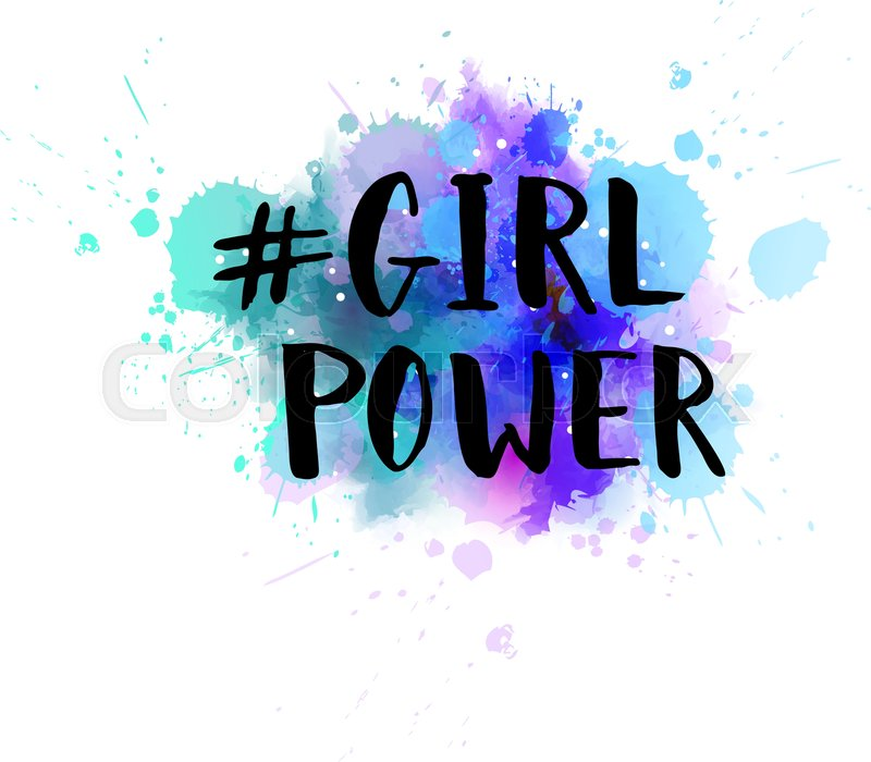 Hashtag Girl power - handwritten ... | Stock vector | Colourbox