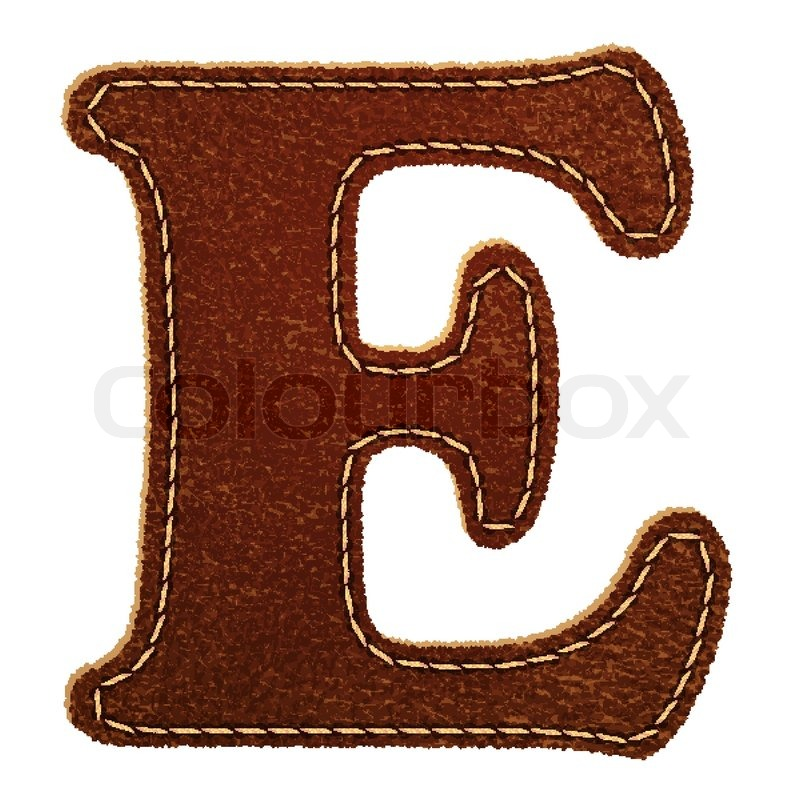 Leather Alphabet Leather Textured Letter E
