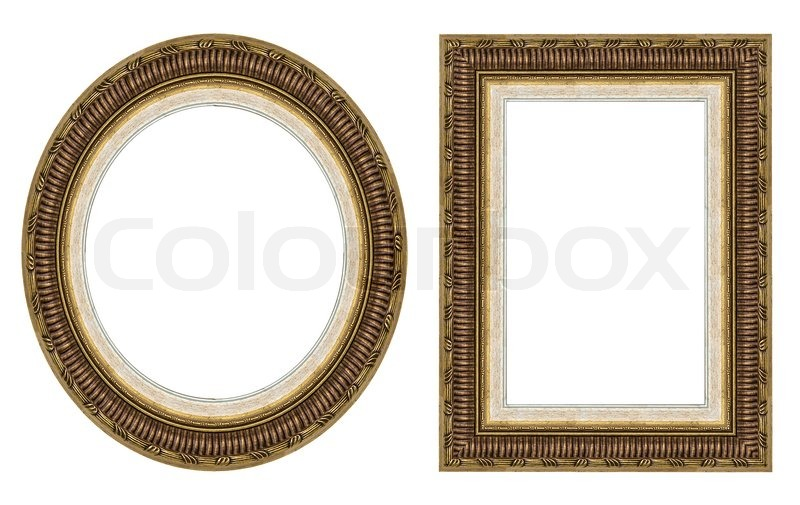 Gold Picture Frames Stock Photo Colourbox