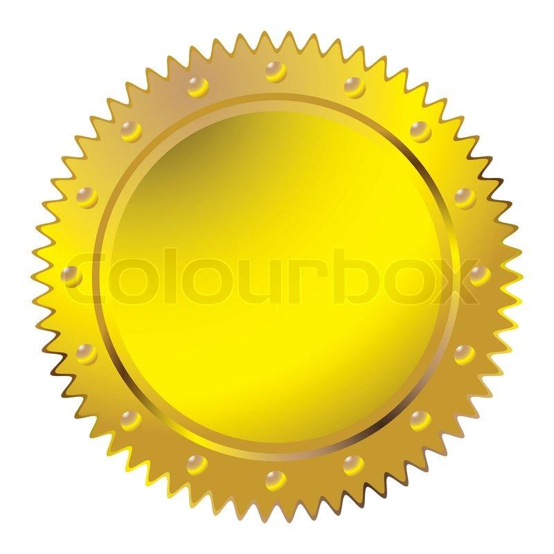 Wax Golden Seal Stock Vector Colourbox