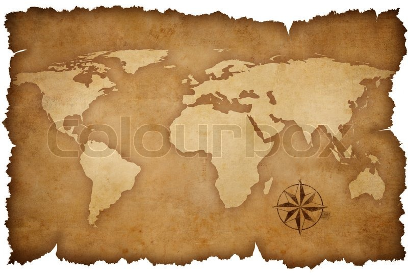 Grunge world map background with rose compass stock photo colourbox gumiabroncs Choice Image
