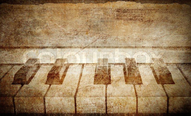 Vintage Piano Background Stock Photo Colourbox
