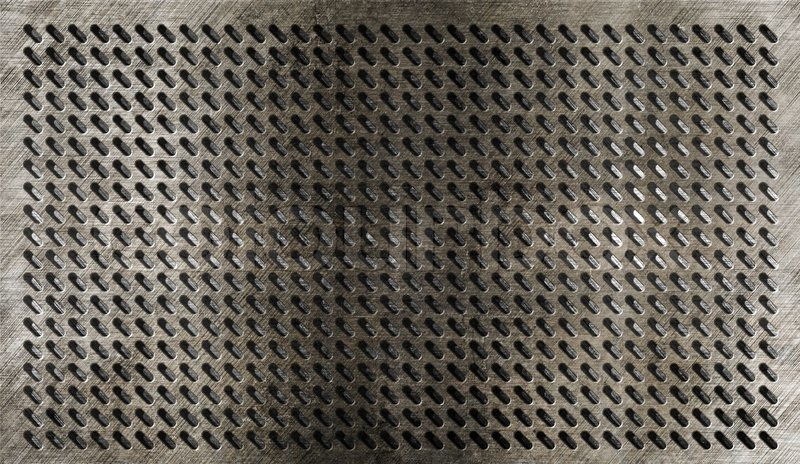 Grunge Metal Grate Industrial Background Stock Photo