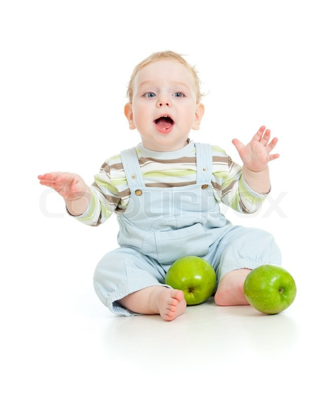 Baby Food Manufacturers Companies In Philippines Mail: Baby Boy Eating Healthy Food Isolated