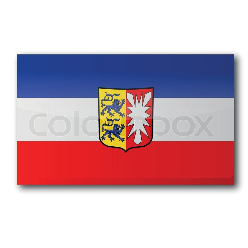 flagge schleswig holstein mit wappen vektorgrafik colourbox. Black Bedroom Furniture Sets. Home Design Ideas