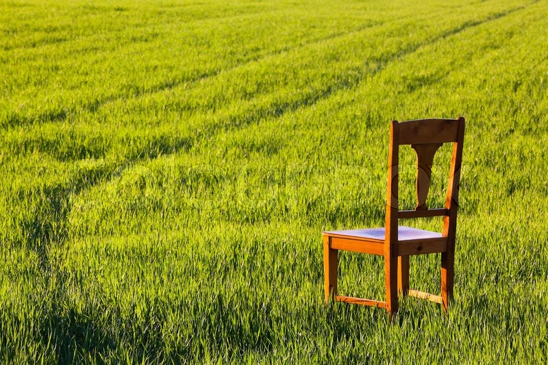Stock image of u0027The restless chair on the corn fieldu0027 & The restless chair on the corn field | Stock Photo | Colourbox