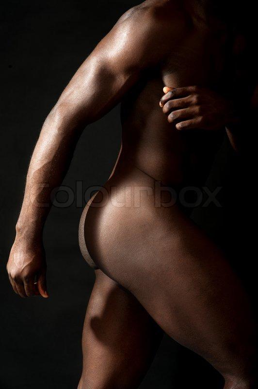 Ball eines nackten Mannes