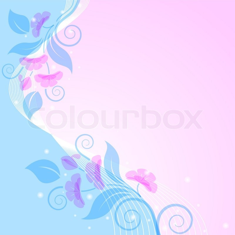 blue and pink backgrounds