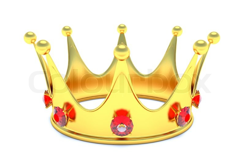 Gold Crown With Red Gems Image 3911503 on Diamond Transparent Icon