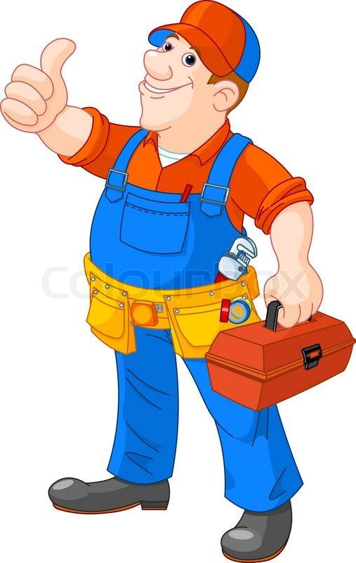 Handwerker clipart kostenlos  Klempner | Stockfotos kaufen | Colourbox