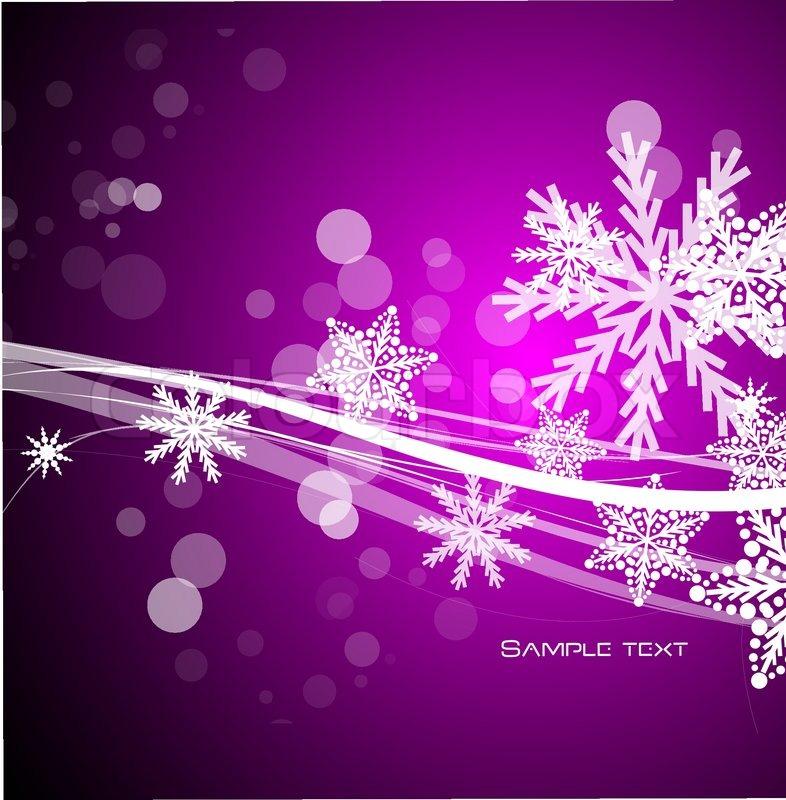 Vector purple Christmas background | Stock Vector | Colourbox