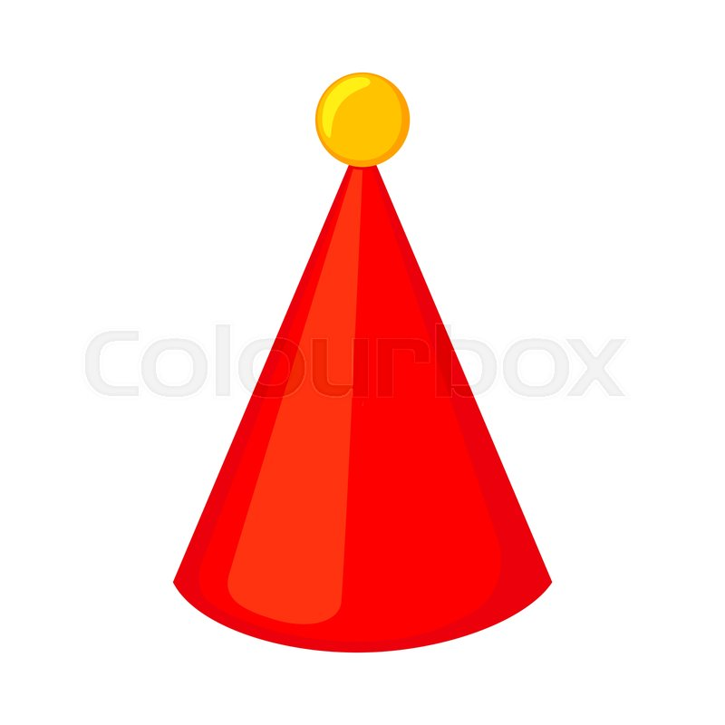 Colorful Cartoon Party Hat Bobble On Stock Vector Colourbox