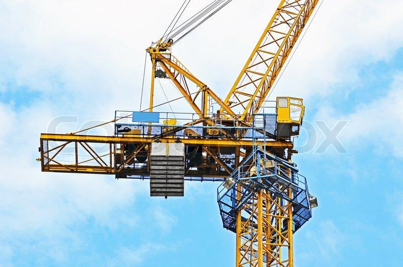 construction tower crane stock photo colourbox