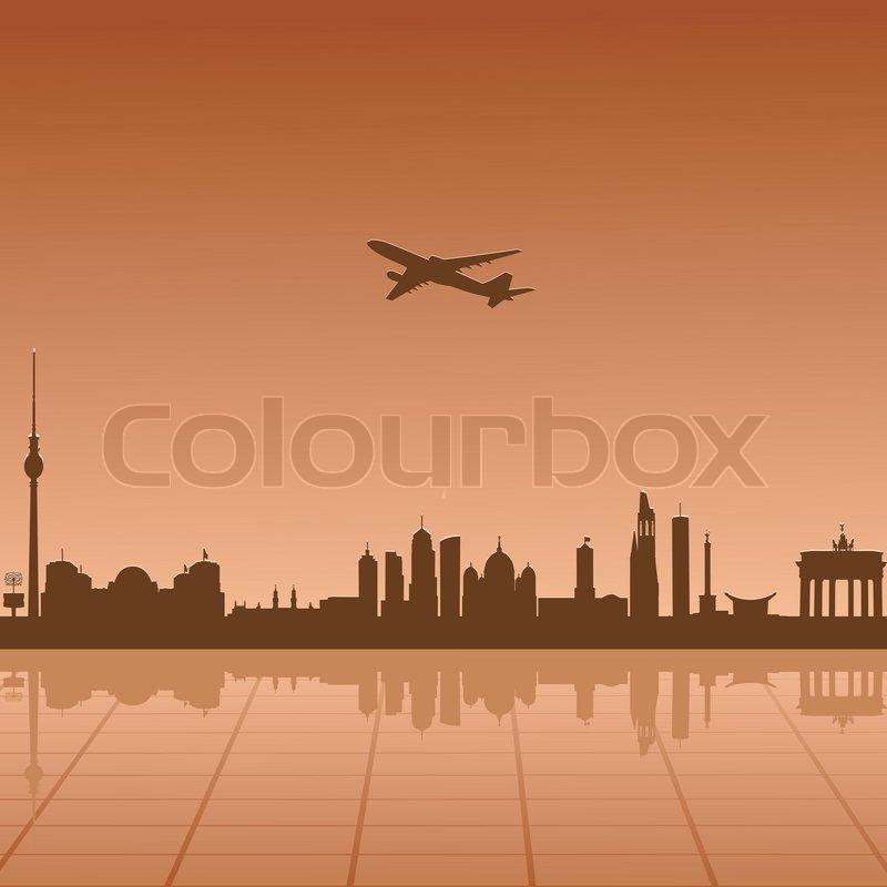 Flugzeug ber berlin fliegen stock vektor colourbox for Fliegen lebensdauer