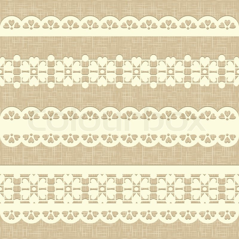 Cream lace fabric texture royalty free stock photography image - Seamless Rustic Burlap Pattern Stock Vector Colourbox