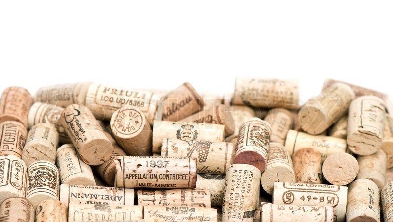 Collection of vintage used wine corks   Stock Photo ...