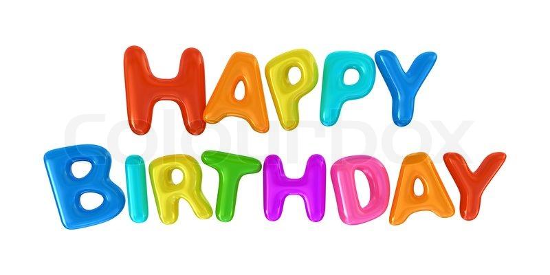 happy birthday sign isolated on white stock photo