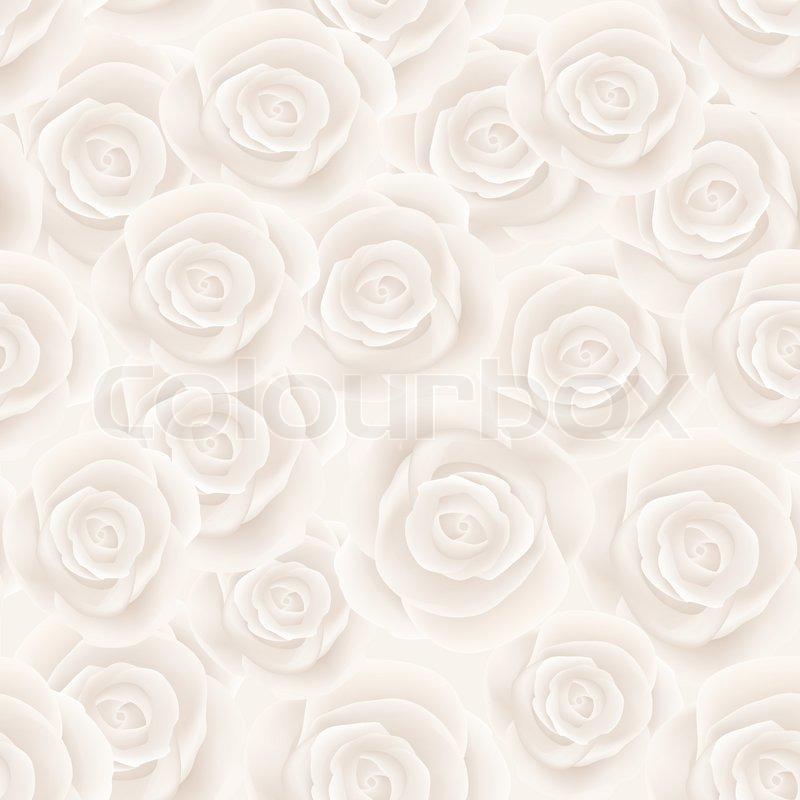 weisse rosen nahtlose hintergrund vektorgrafik colourbox. Black Bedroom Furniture Sets. Home Design Ideas