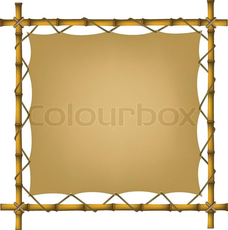 Bambus-Rahmen mit alten Freibrief | Vektorgrafik | Colourbox