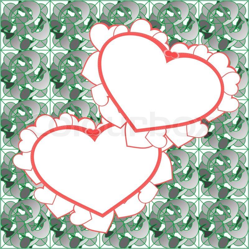 Two Heart Background Vector Design Stock Vector Colourbox