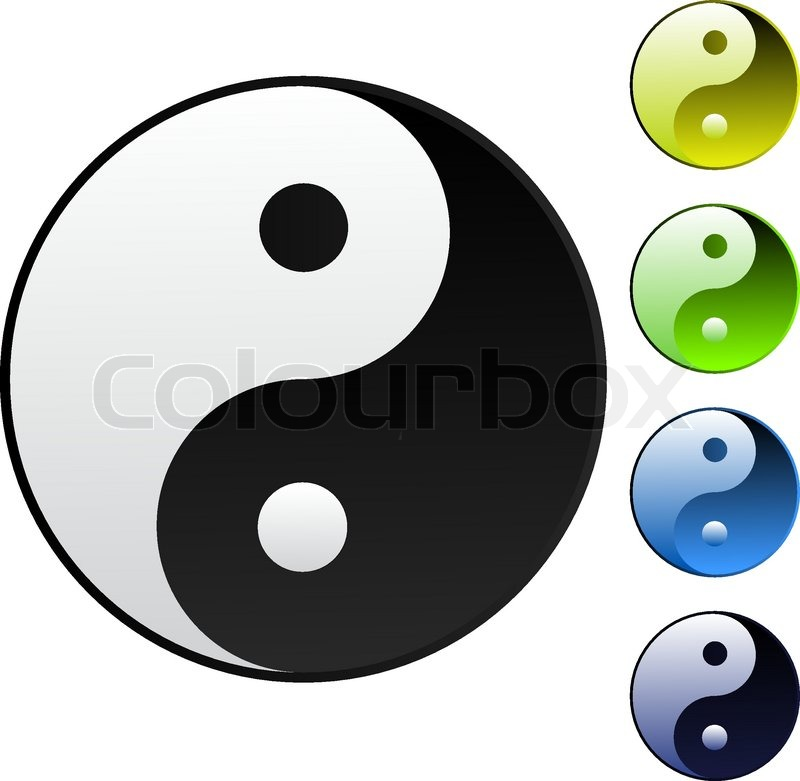Yin Yang Symbol Stock Vector Colourbox