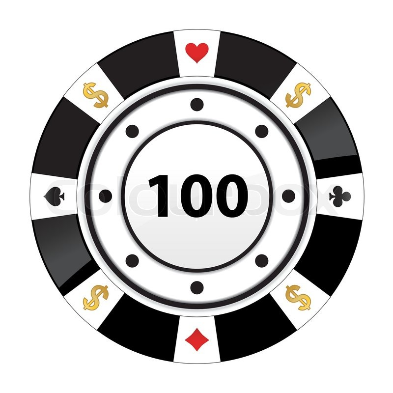 Special Black Poker Chip Stock Vector Colourbox