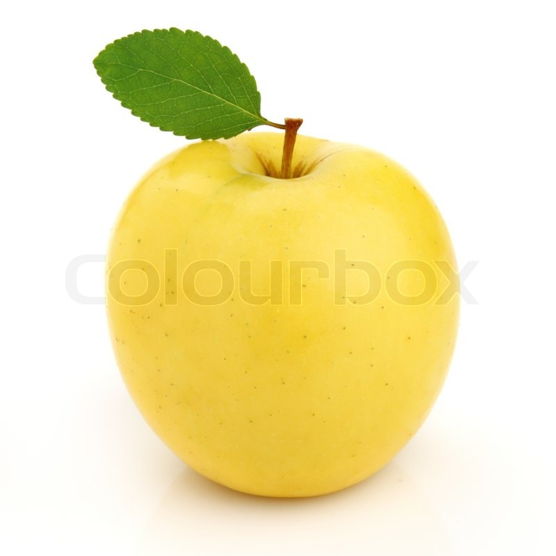 Yellow Apple Pictures Yellow Apple With Leaf
