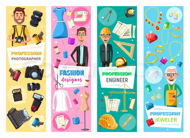 Professions And Professional Equipment Stock Vector Colourbox