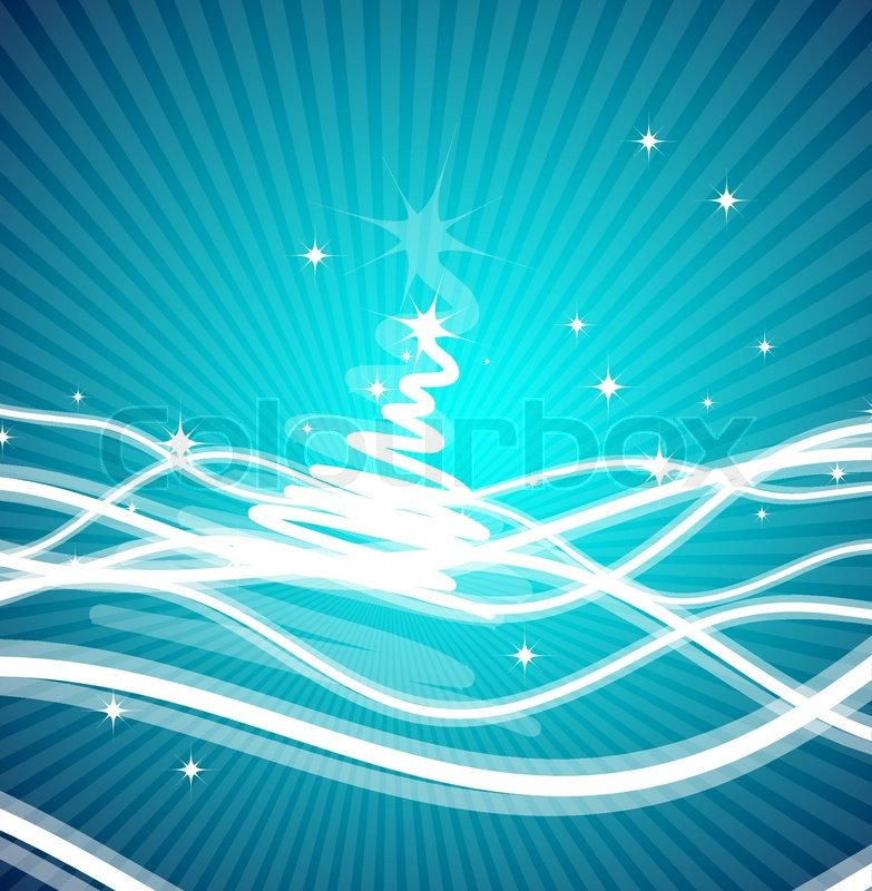 Blue Christmas Bow Transparent Background Blue Christmas Lines Background Vector