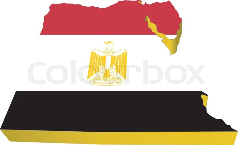 Vectors D Map Of Egypt Stock Vector Colourbox - Map of egypt vector