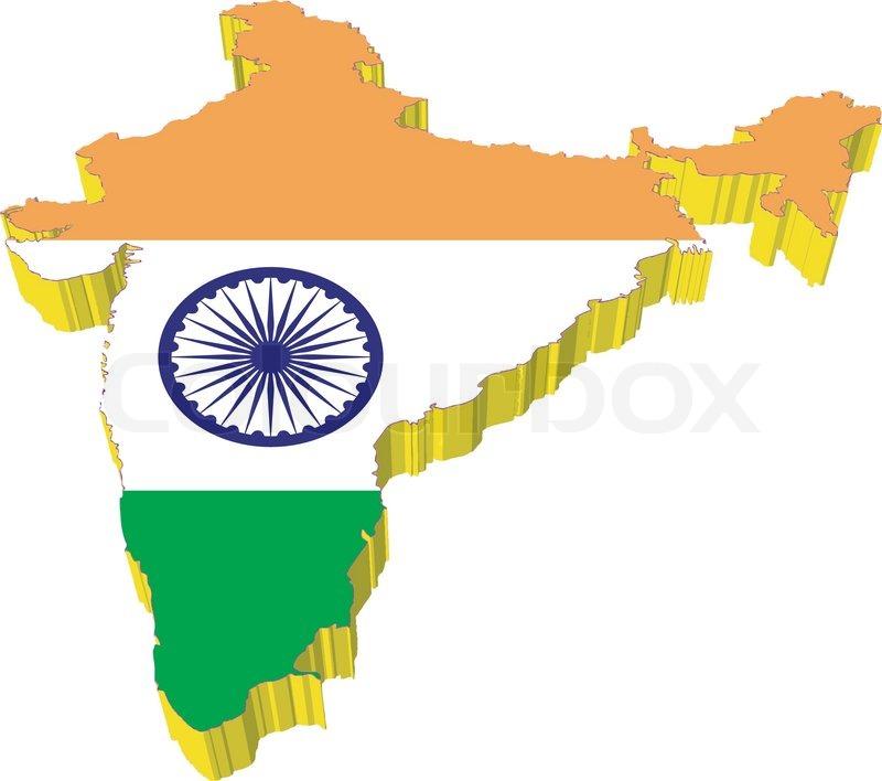 Vectors 3d Map Of India Stock Vector Colourbox