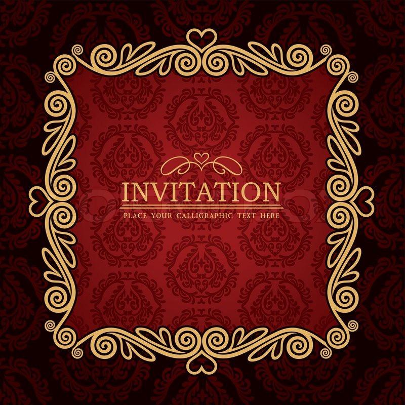 Red Gold Wedding Invitations for perfect invitations design