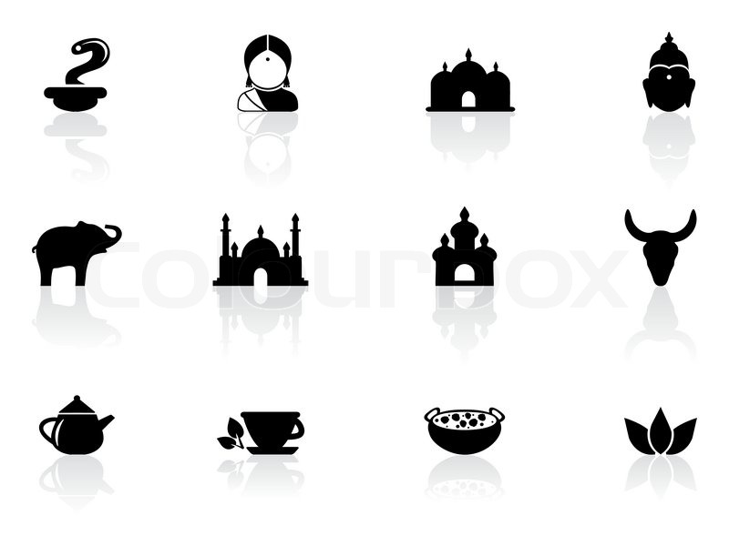 Indische Symbole Vektorgrafik Colourbox