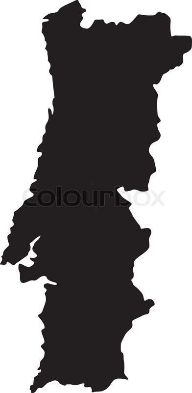 Vector Illustration Of Maps Of Portugal Stock Vector Colourbox - Portugal map vector