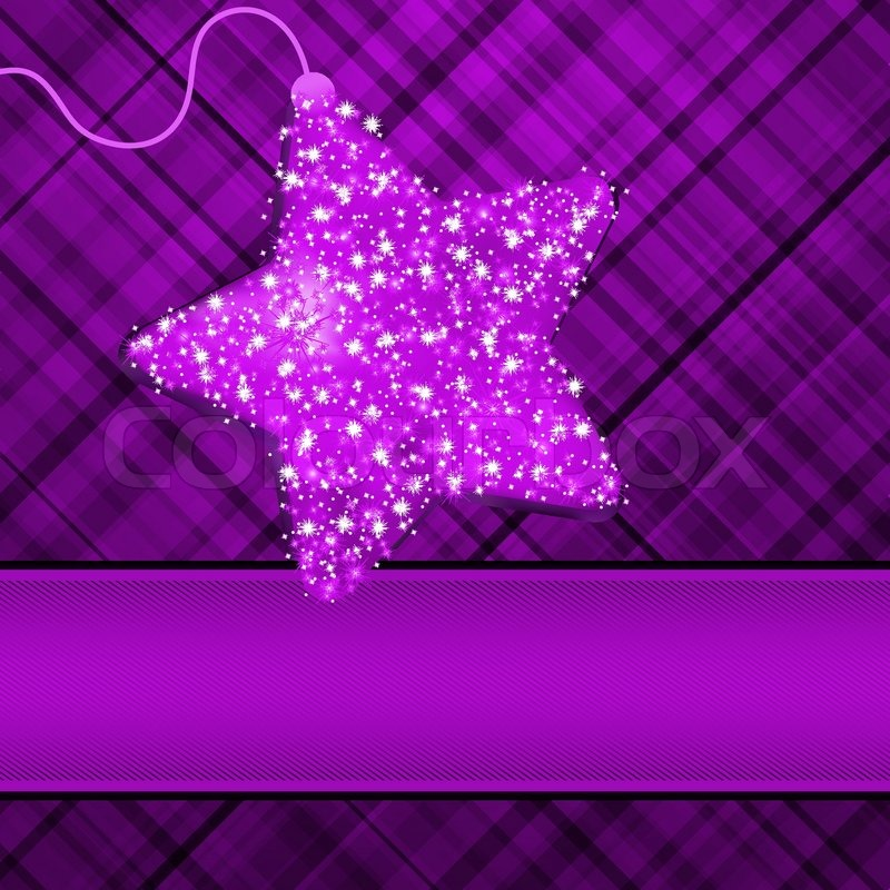 Christmas Stars On Purple Background Eps 8 Stock Vector