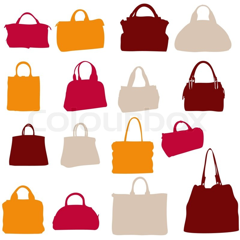 Women bags vector silhouette   Stock Vector   Colourbox a436b3c475