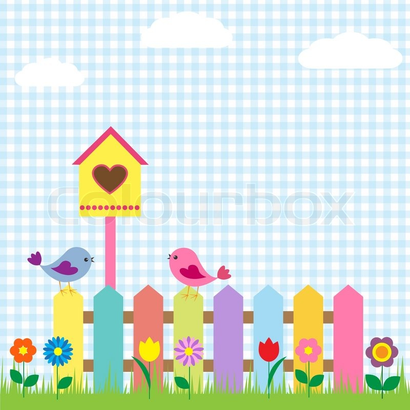 Birds and birdhouse | Stock Vector | Colourbox