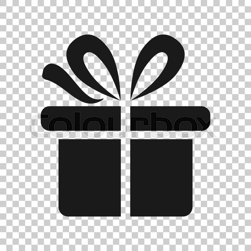 Gift Box Icon In Transparent Style Stock Vector Colourbox