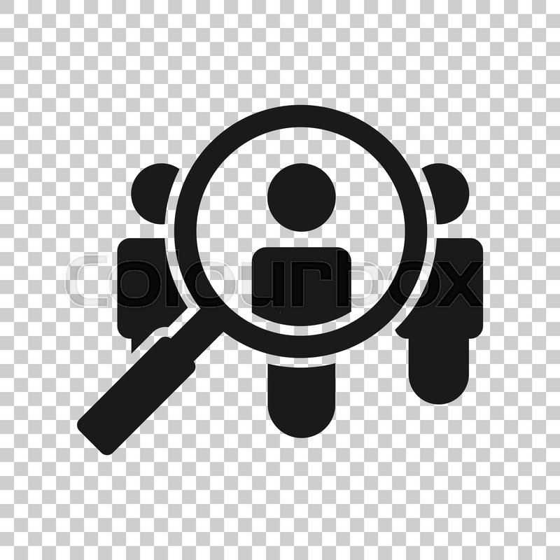 Search Job Vacancy Icon In Transparent Stock Vector Colourbox