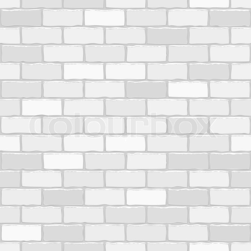 Seamless Vector White Brick Wall Background Pattern For