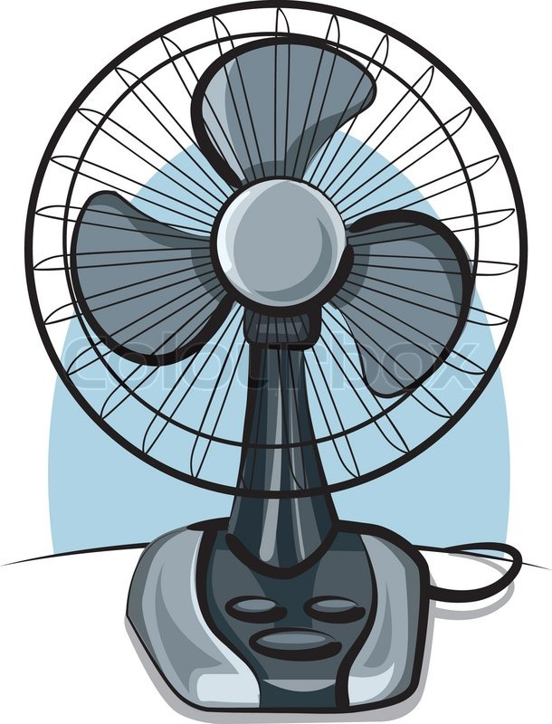 Box Fan Clip Art : Table fan ventilator stock vector colourbox