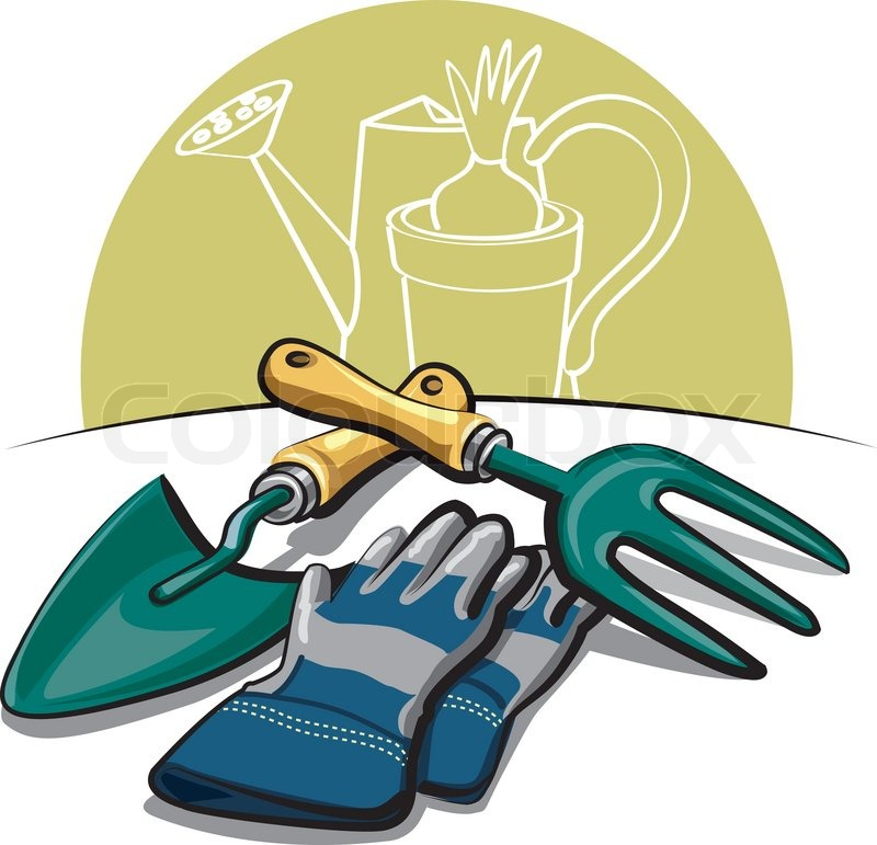 Gardening tools and gloves stock vector colourbox for Gardening tools wikipedia
