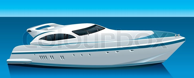 luxus yacht vektorgrafik colourbox. Black Bedroom Furniture Sets. Home Design Ideas
