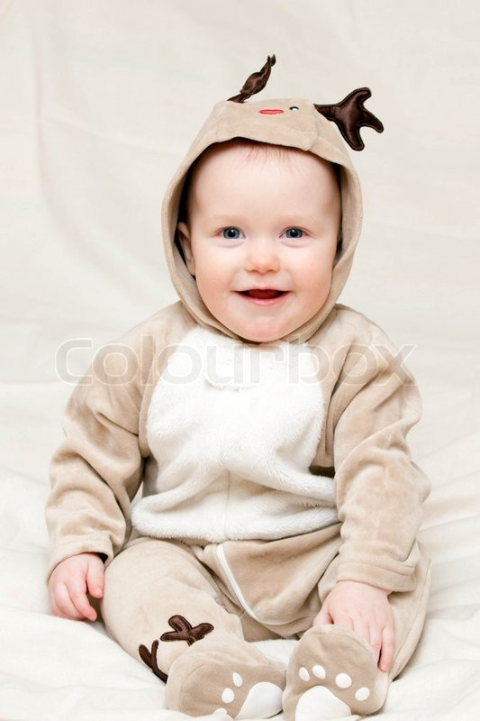 sc 1 st  Colourbox & Infant in deer costume | Stock Photo | Colourbox