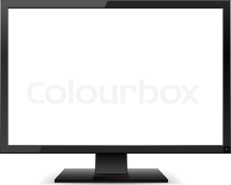 Lcd Tv Monitor Stock Vector Colourbox