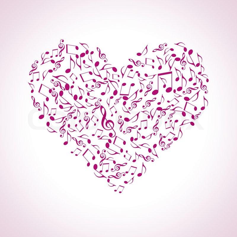 Heart Made Of Musical Symbols Stock Photo Colourbox