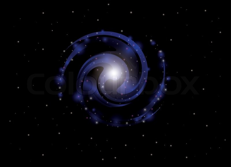blue spiral galaxy abstract - photo #6