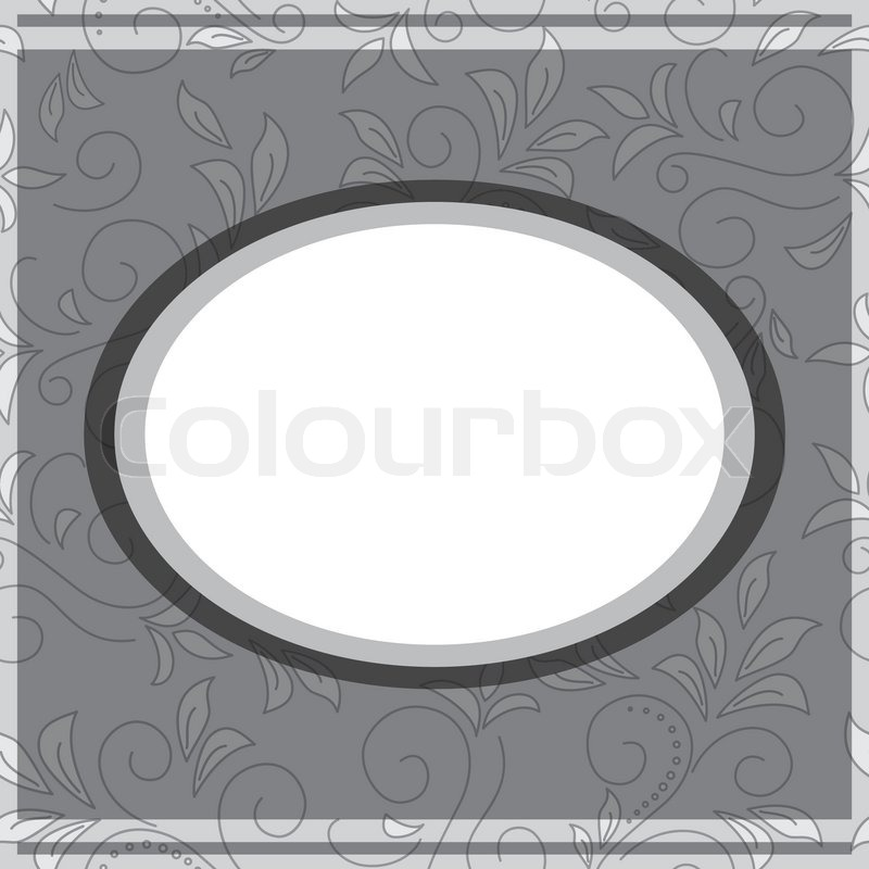 Vektor grauen Rahmen auf floral grauen Hintergrund | Vektorgrafik ...