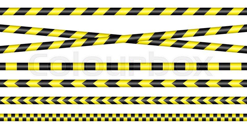 Relativ Set Absperrband Gelb Und Schwarz   Stock-Vektor   Colourbox DU03